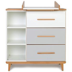 Commode à langer 3 tiroirs NADO white-manhattan grey