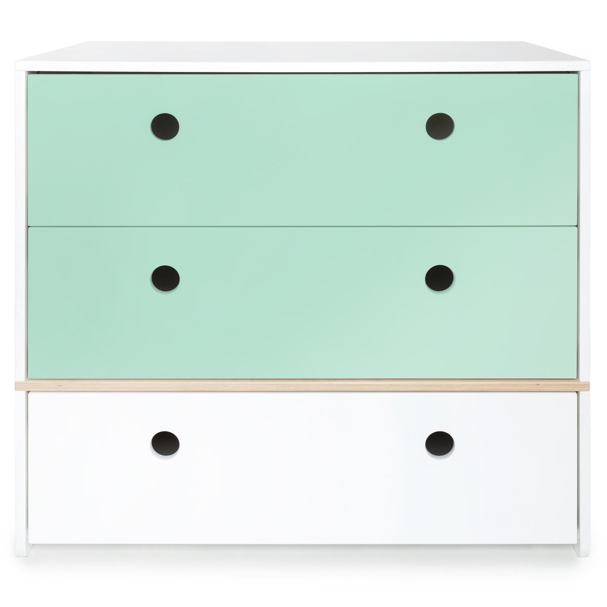 Commode COLORFLEX Abitare Kids façades tiroirs mint-mint-white
