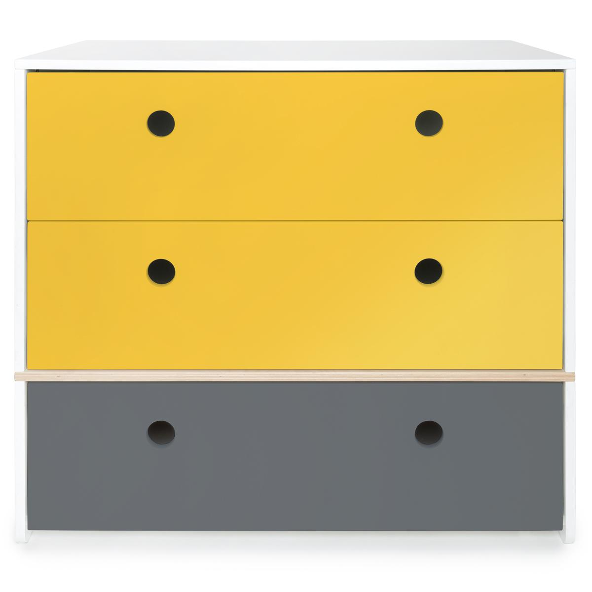 Commode COLORFLEX Abitare Kids façades tiroirs nectar yellow-nectar yellow-space grey