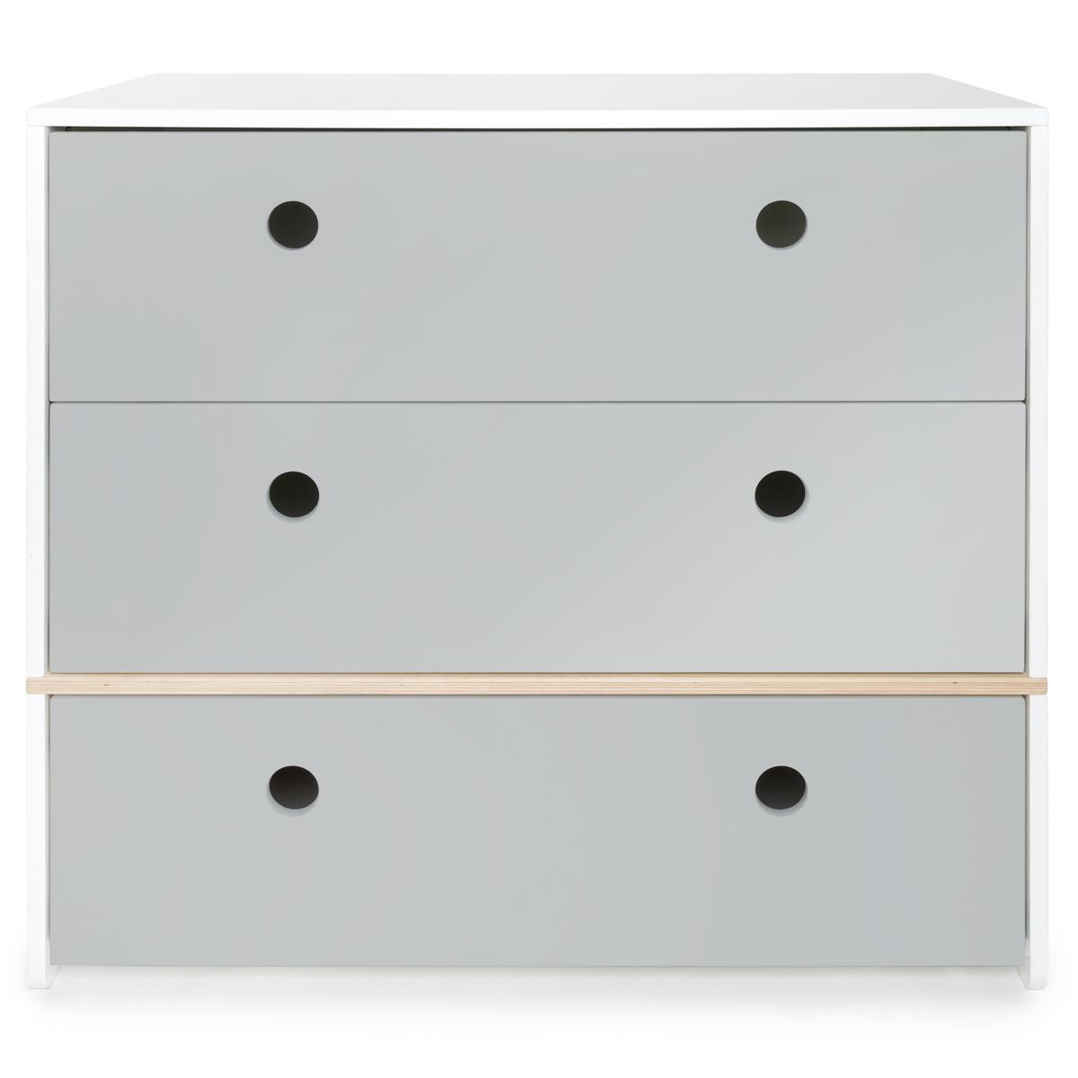 Commode COLORFLEX Abitare Kids façades tiroirs pearl grey