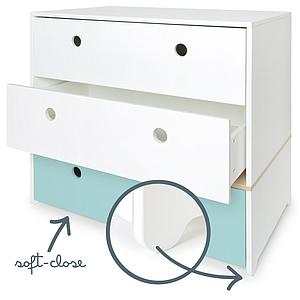 Commode COLORFLEX Abitare Kids façades tiroirs white-white-sky blue