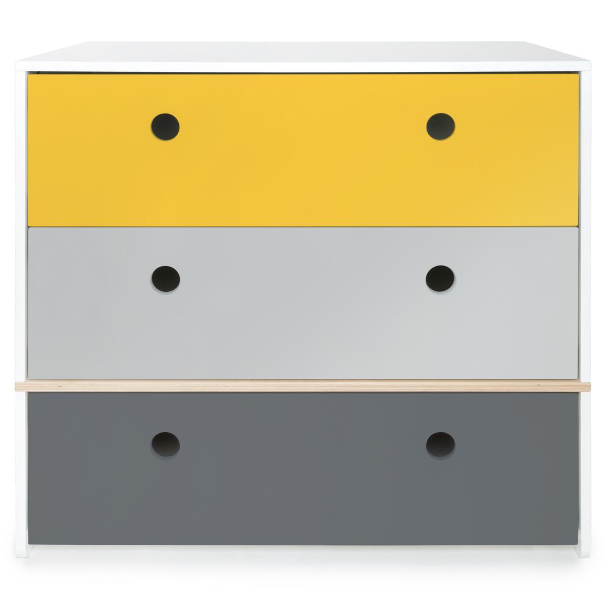 Commode COLORFLEX façades tiroirs nectar yellow-pearl grey-space grey