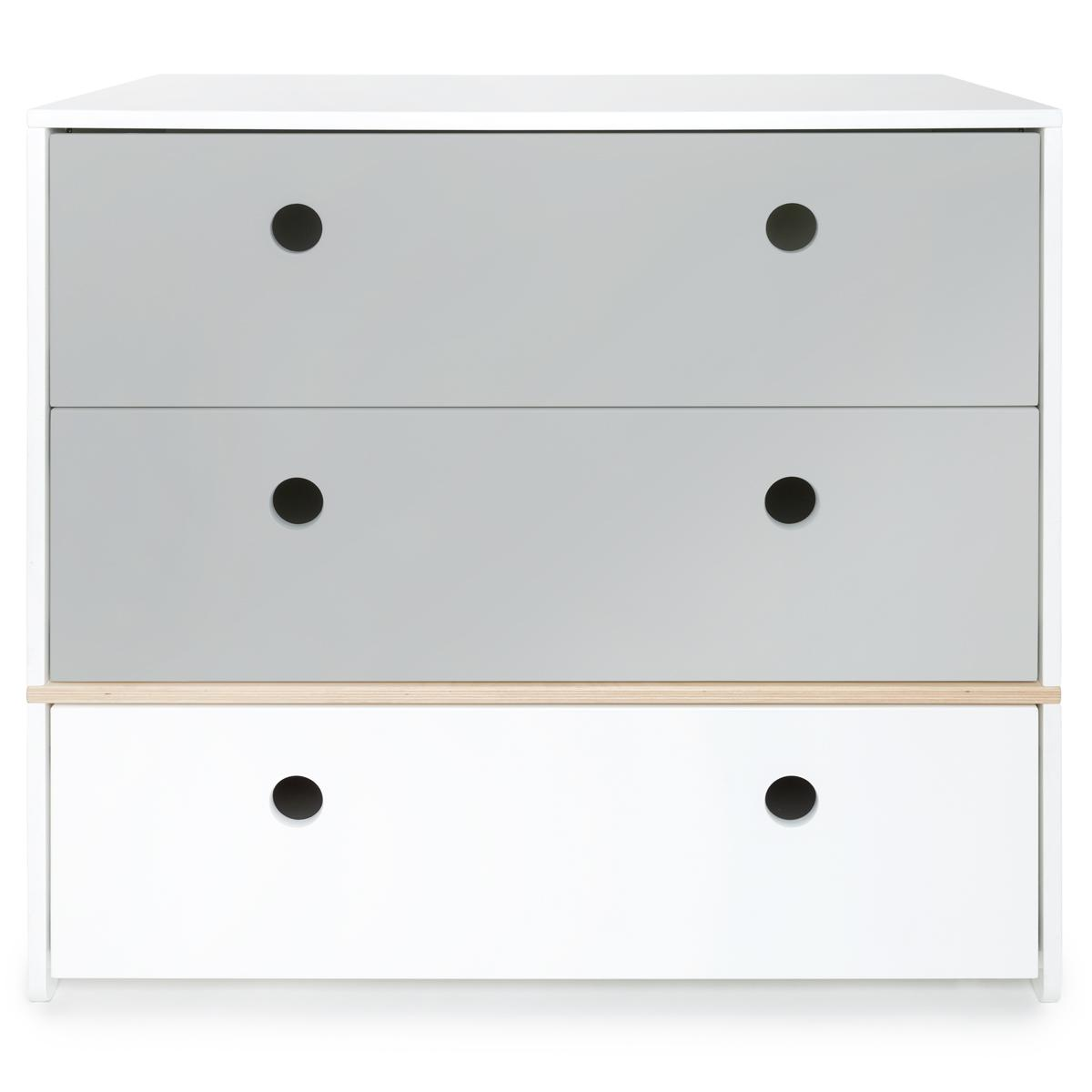 Commode COLORFLEX façades tiroirs pearl grey-pearl grey-white