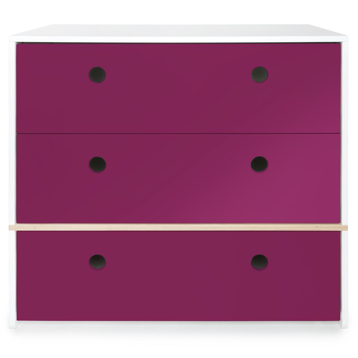 Commode COLORFLEX façades tiroirs plum