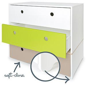 Commode COLORFLEX façades tiroirs white-lime-warm grey