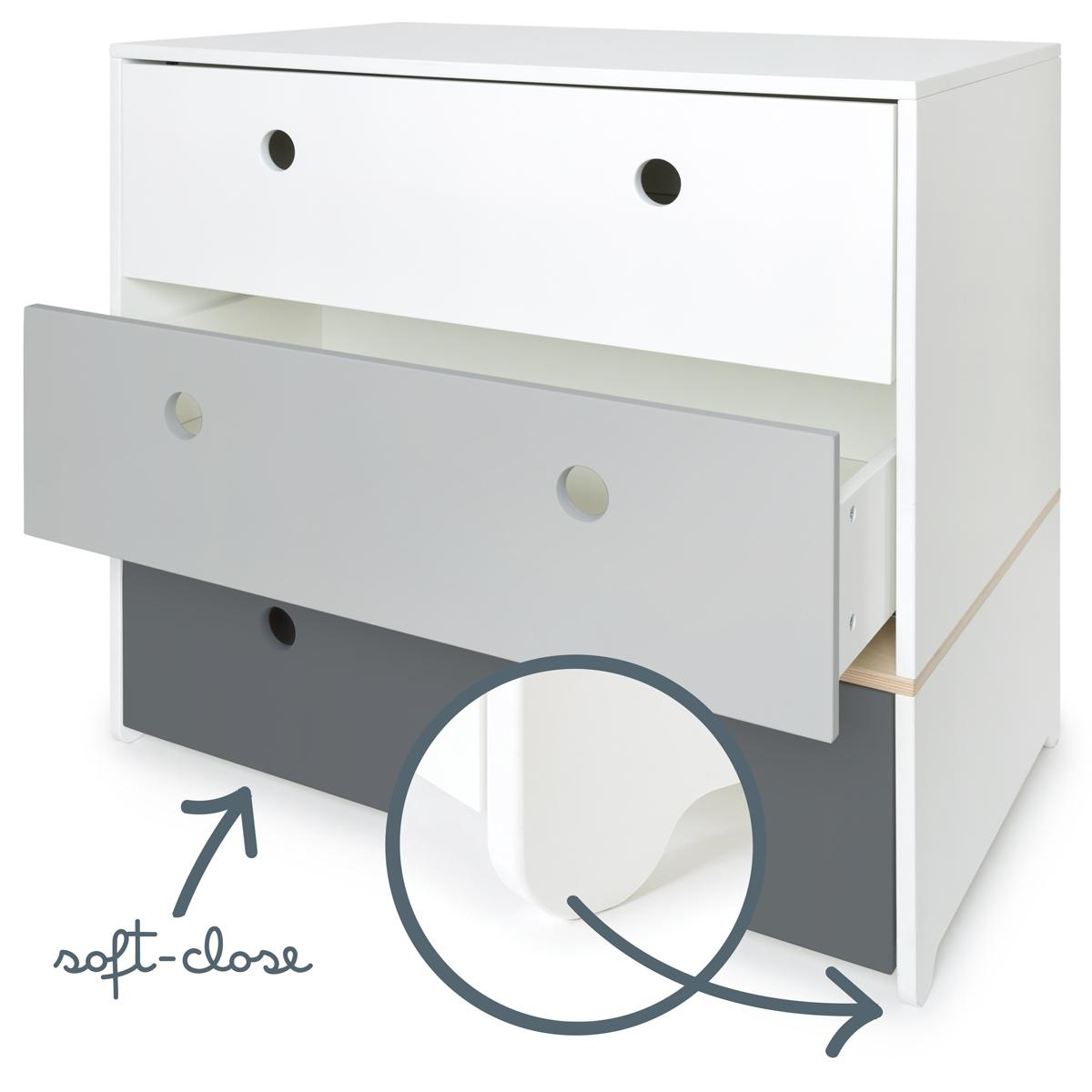 Commode COLORFLEX façades tiroirs white-pearl grey-space grey