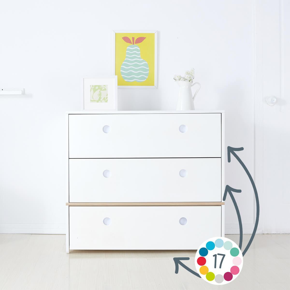 Commode COLORFLEX façades tiroirs white wash