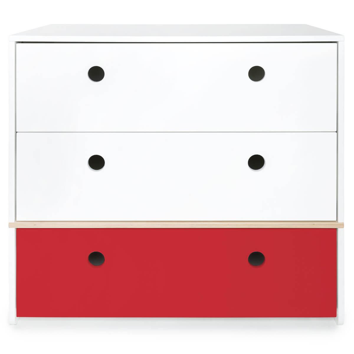 Commode COLORFLEX façades tiroirs white-white-true red