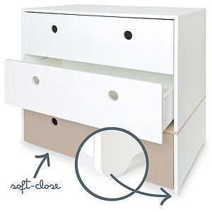Commode COLORFLEX façades tiroirs white-white-warm grey