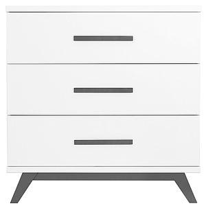 Commode enfant 3 tiroirs LEVI Bopita blanc - grey wash
