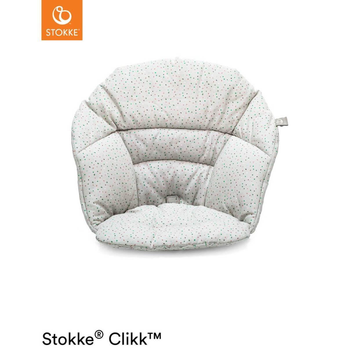Coussin chaise haute CLIKK™ Stokke gris saupoudrés