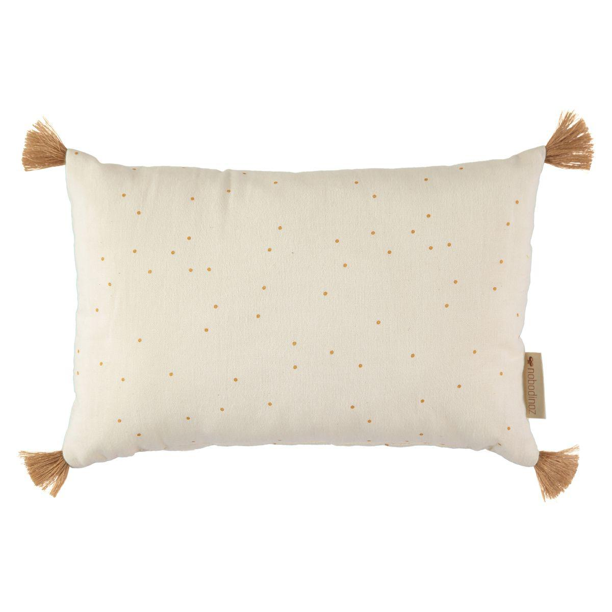 Coussin déco 20x35cm SUBLIM Nobodinoz honey sweet dots-natural