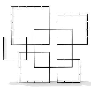 Étagère autoportante Set 3pc KONNEX Mueller blanc