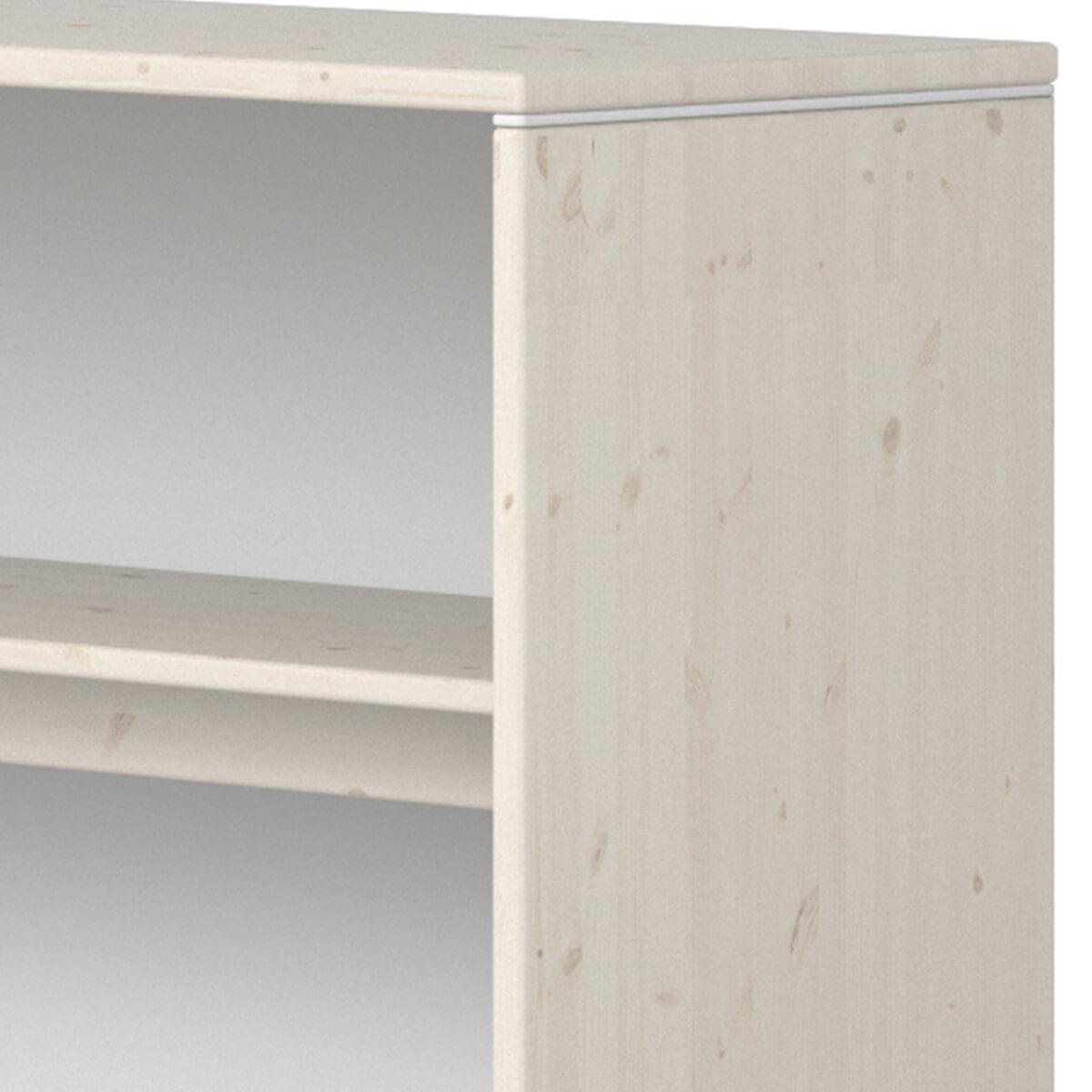 Etagère fixation lit 125x135cm STUDY CLASSIC Flexa blanchi-blanc