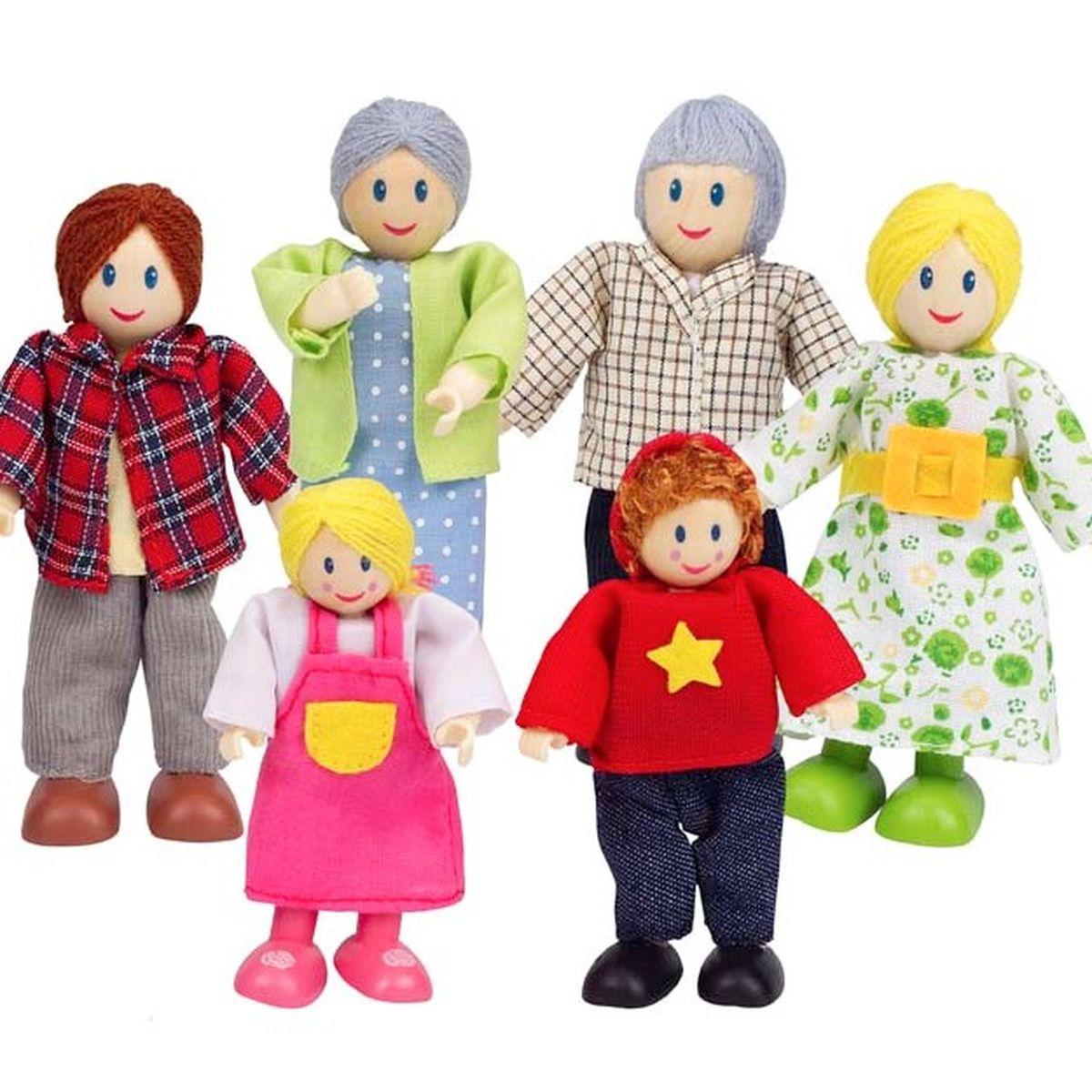 HAPPY FAMILY by Hape Personnages pour maison en bois