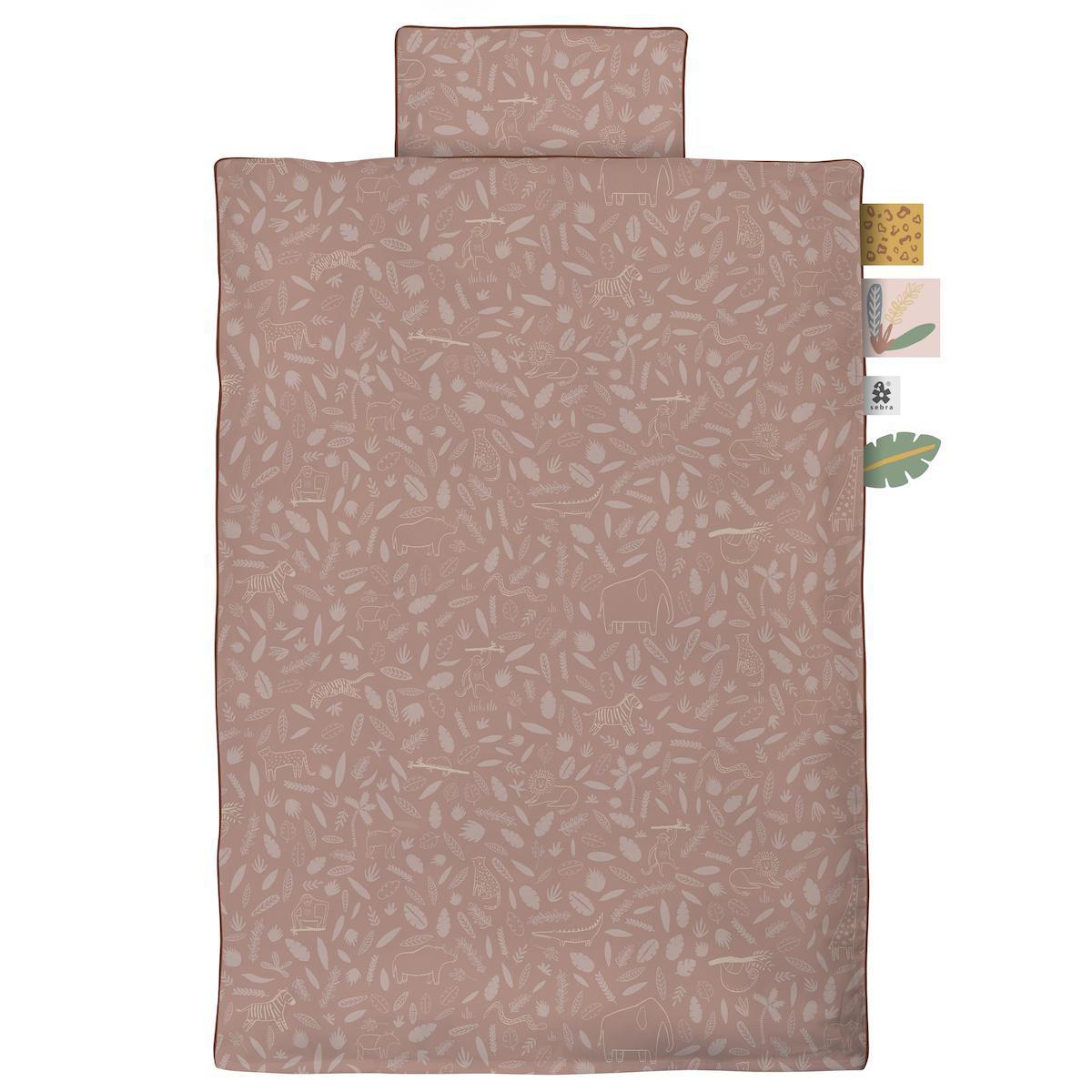 Housse de couette 100x140cm SUNSET ROSE Sebra