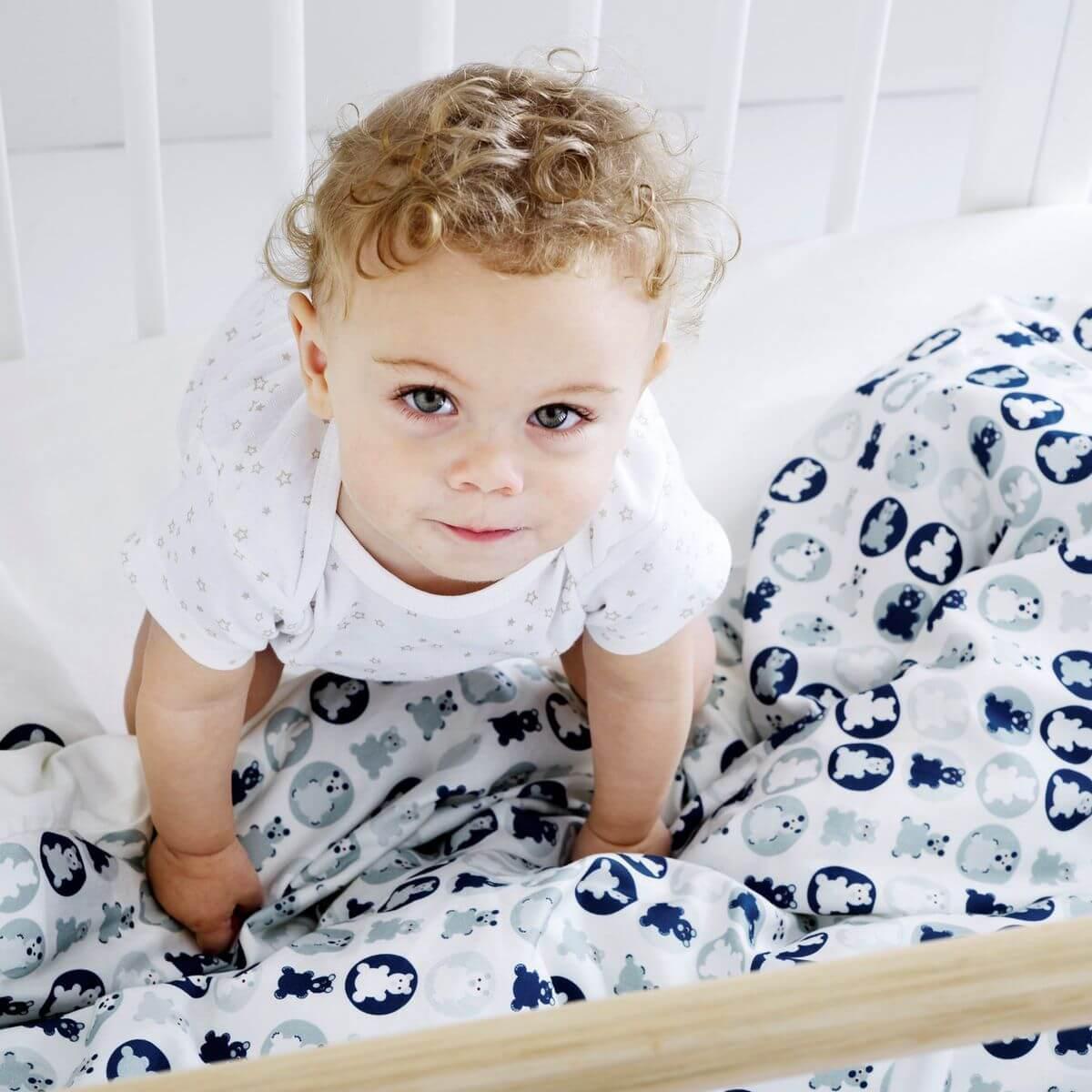 Housse de couette bébé 100x140cm BABY Flexa bleu