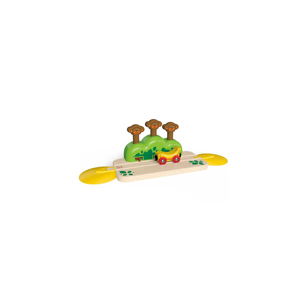 Jeu enfant circuit de train MONKEY POP-UP TRACK HAPE