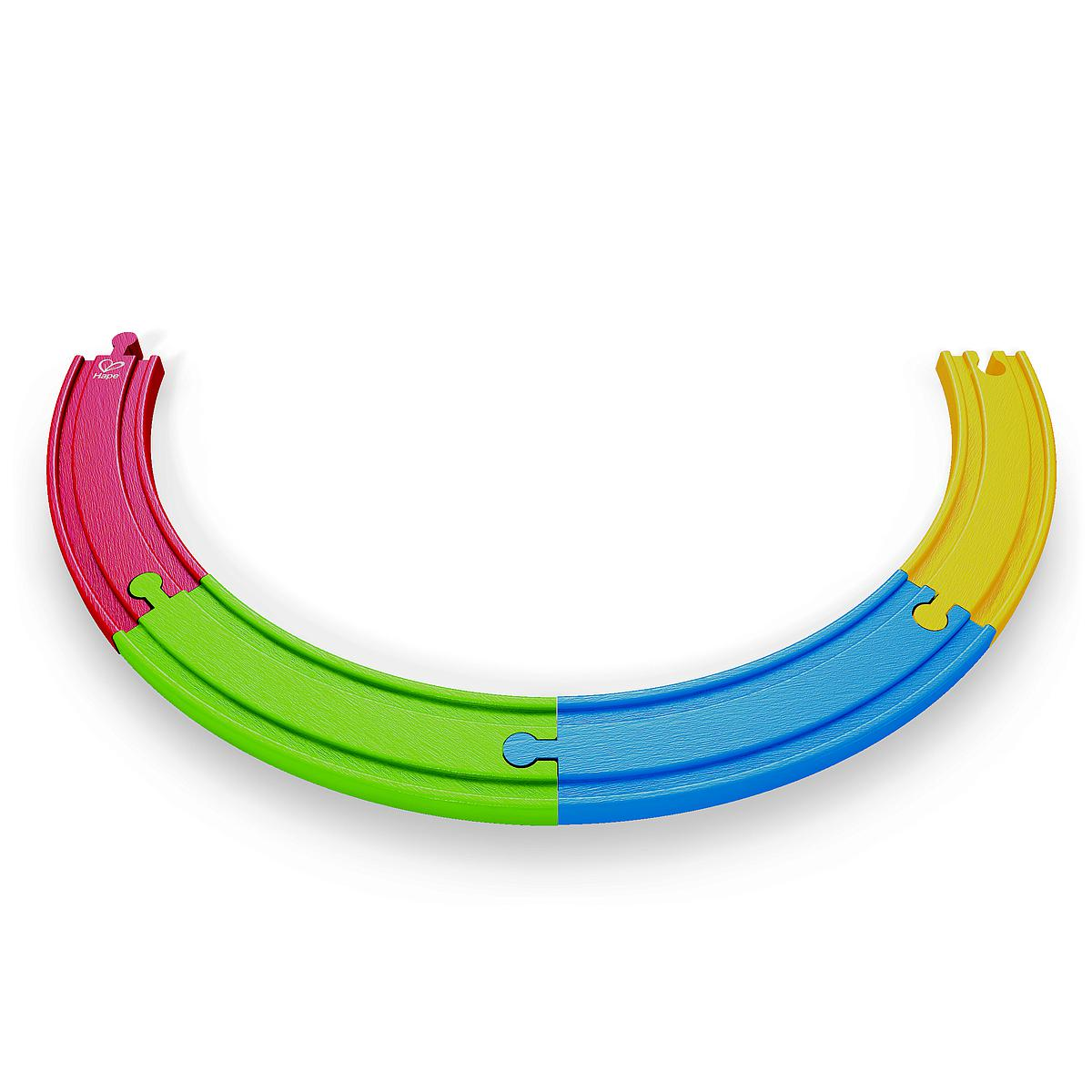 Jeu enfant circuit de train RAINBOW TRACK PACK HAPE
