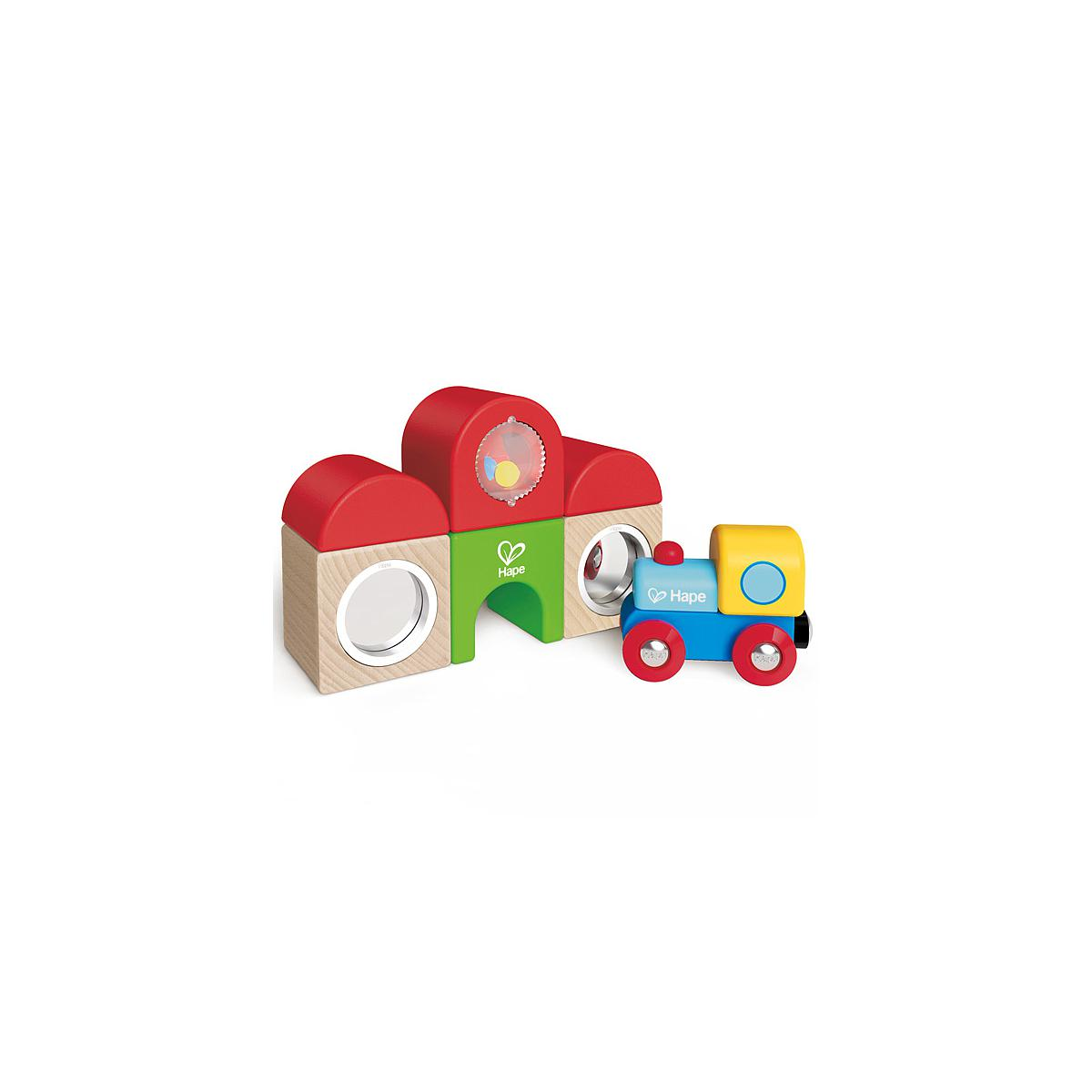 Jeu enfant circuit de train set STATION BUILDING BLOCK HAPE