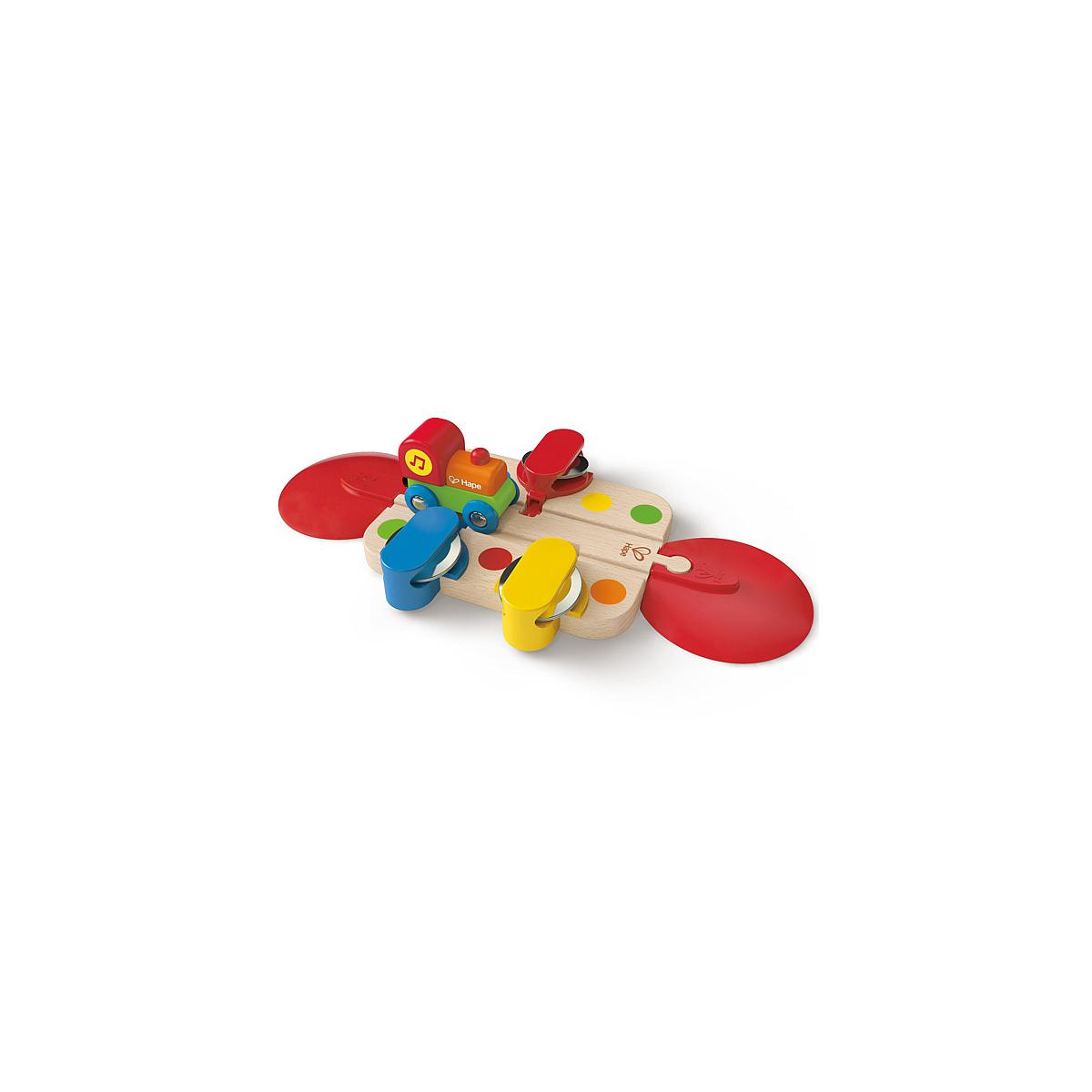 Jeu enfant circuit de train tambourine HAPE