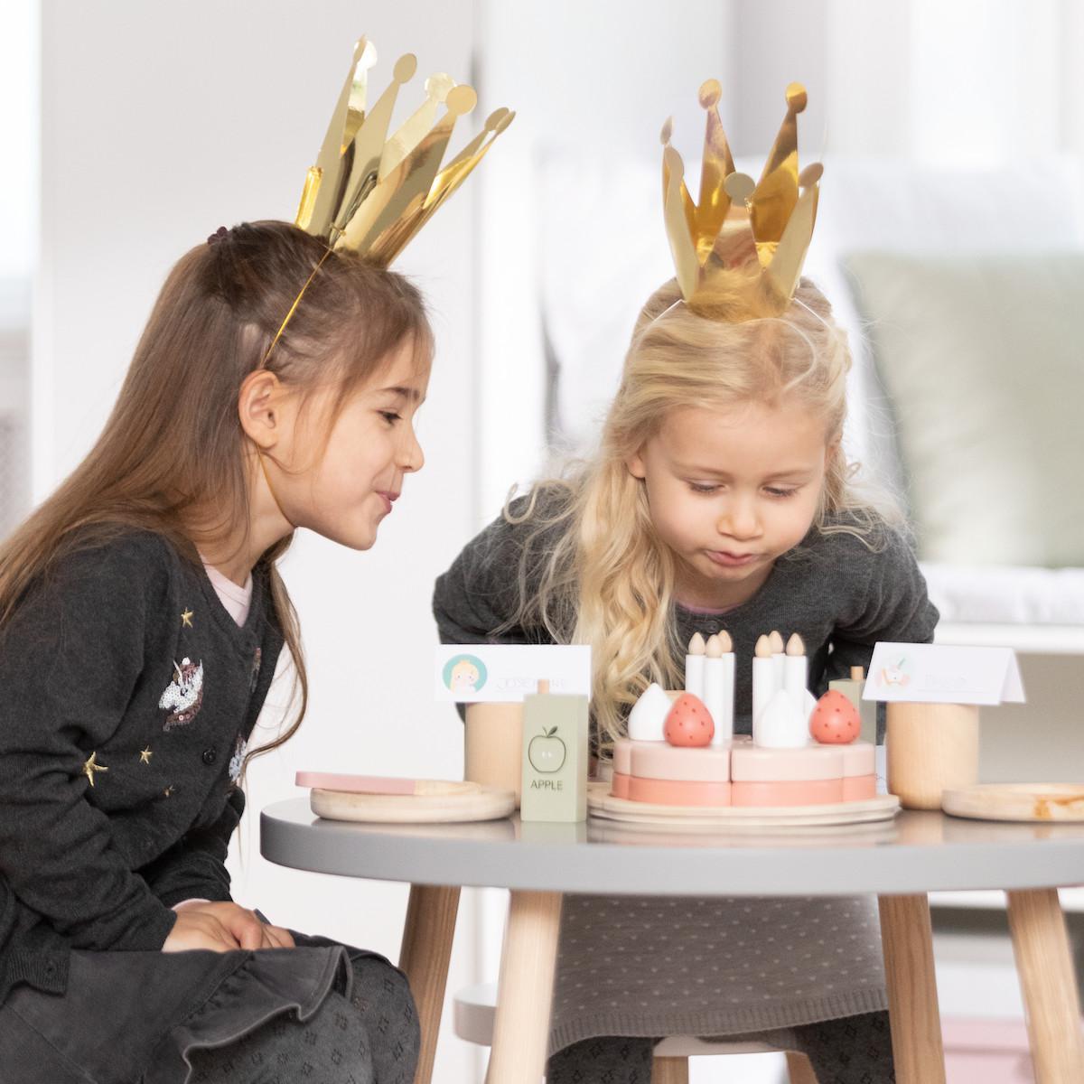 abitare | Jeu imitation BIRTHDAY CAKE Flexa bois naturel