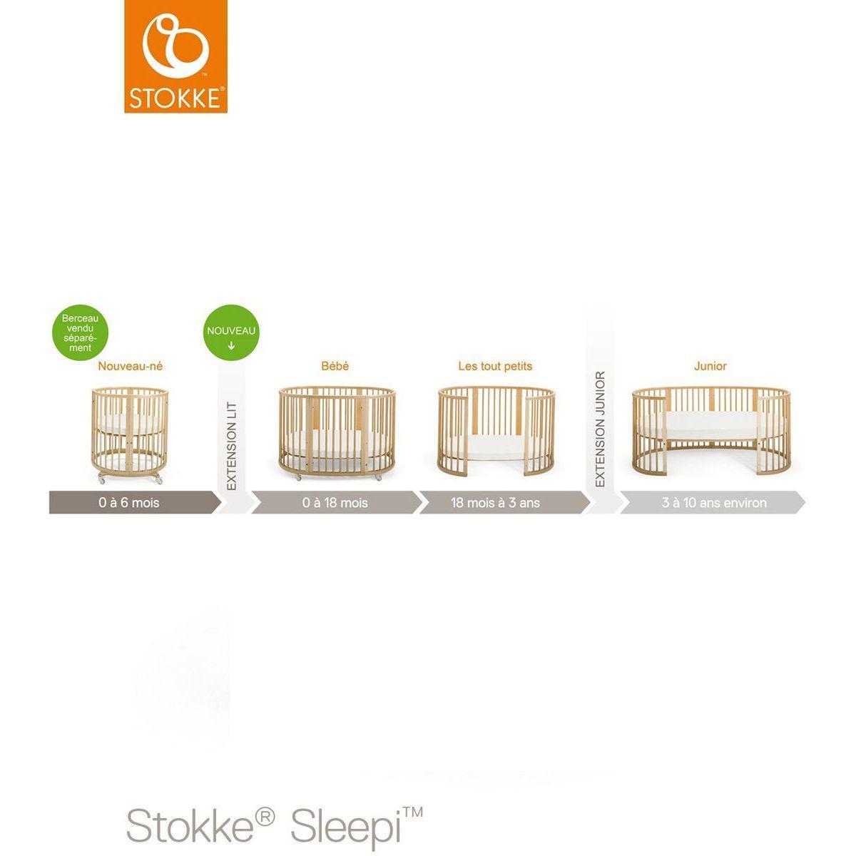 Kit extension lit bébé SLEEPI Stokke blanc