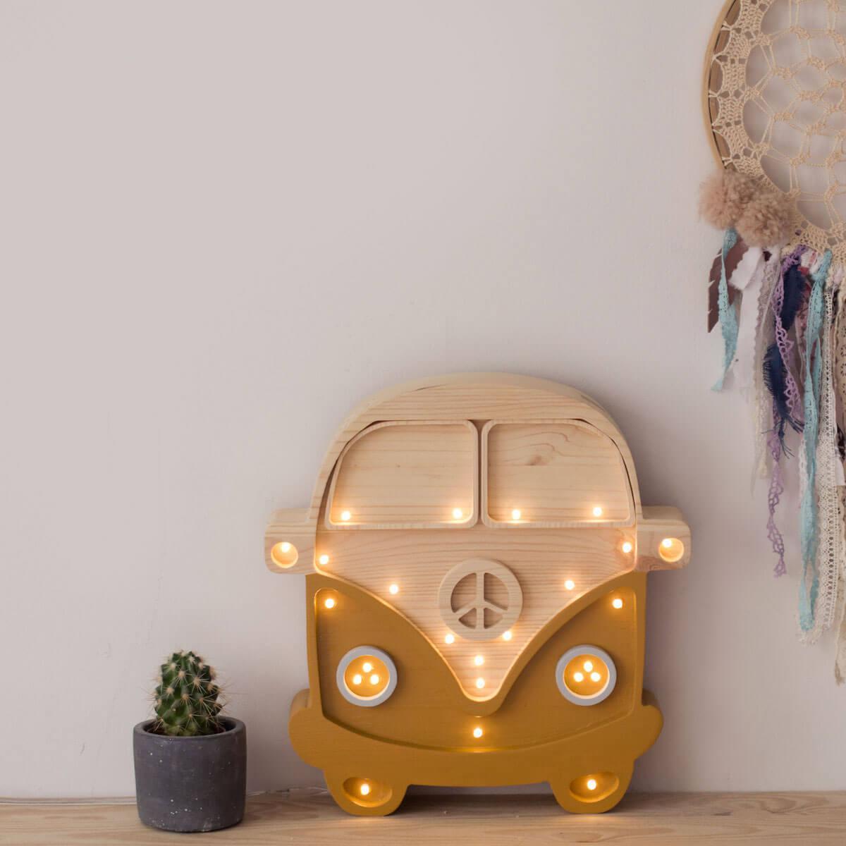 Lampe lumières VAN Little Lights mustard-wood