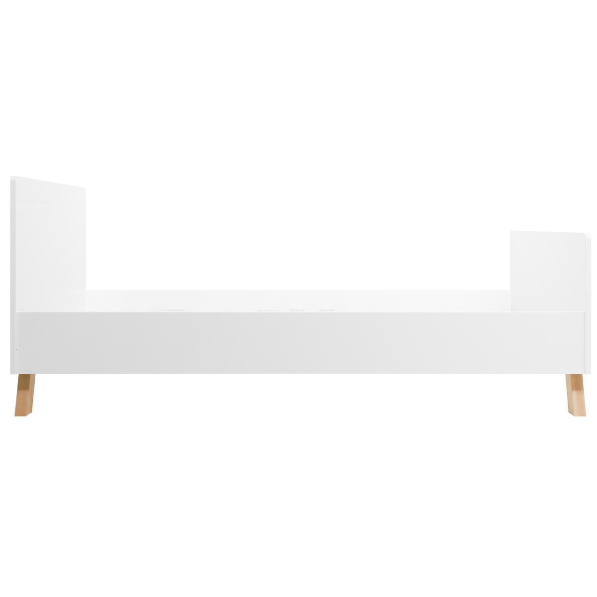 Lit 120x200cm LISA Bopita blanc-naturel
