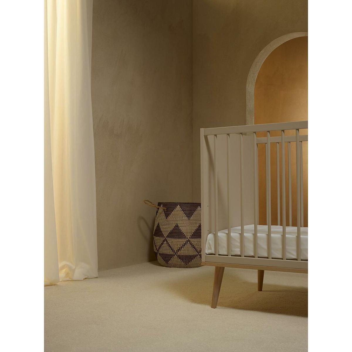 Lit 60x120cm FLOW Quax Chêne naturel-Clay