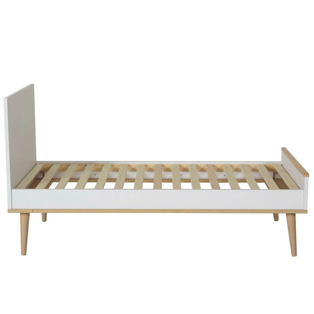 Lit 70x140cm FLOW Quax Chêne naturel-blanc