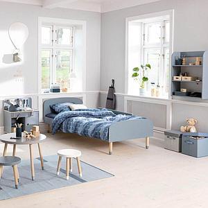 Lit 90x190cm PLAY Flexa bleu