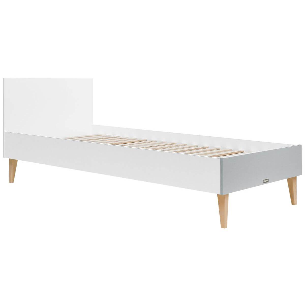 Lit 90x200cm EMMA Bopita blanc-gris