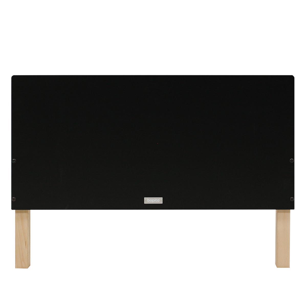 Lit 90x200cm FLORIS Bopita Noir Mat-Naturel