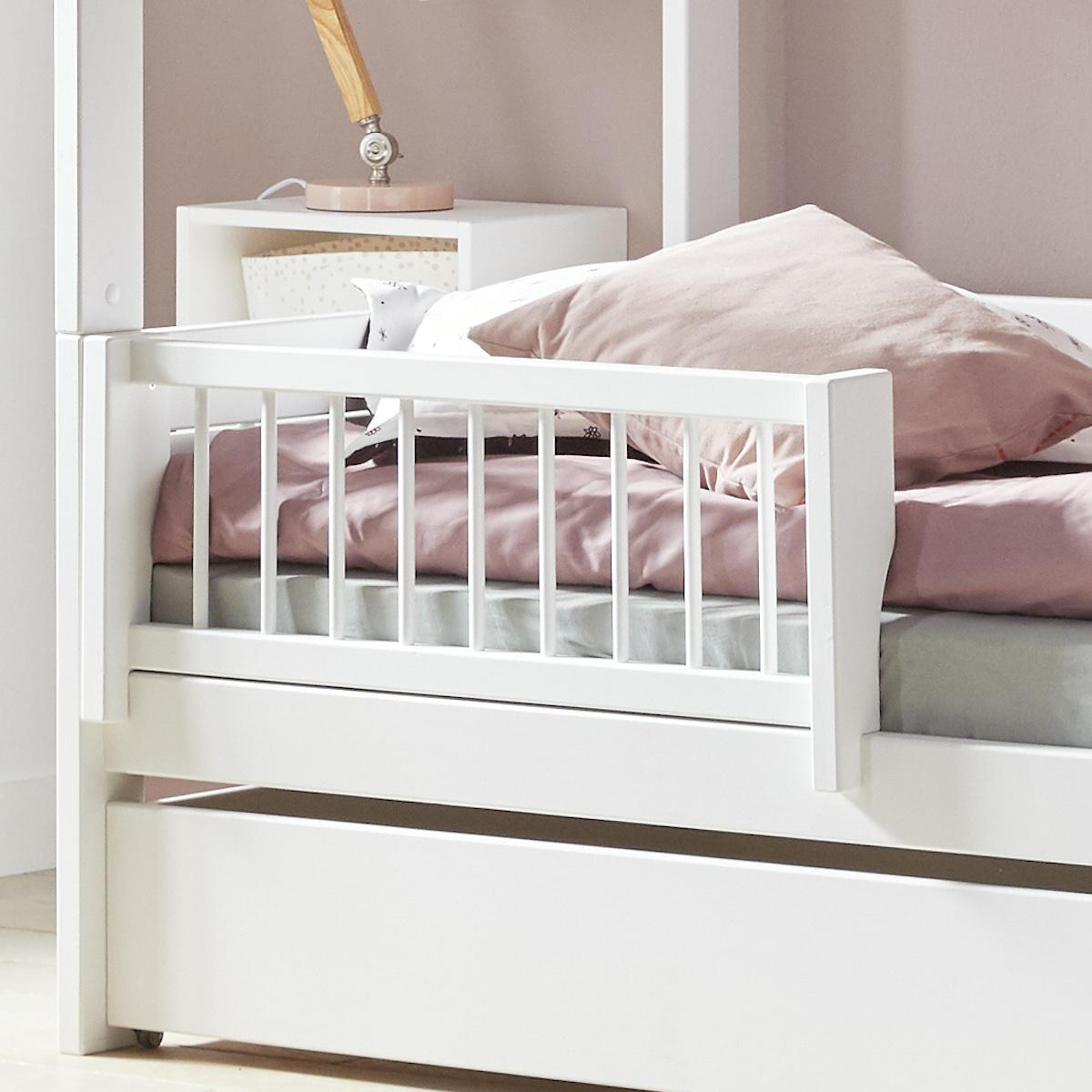 Lit 90x200cm-sommier luxe BEACH HOUSE Lifetime blanc