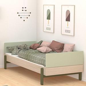 Lit banquette 120x200cm POPSICLE Flexa chêne-kiwi