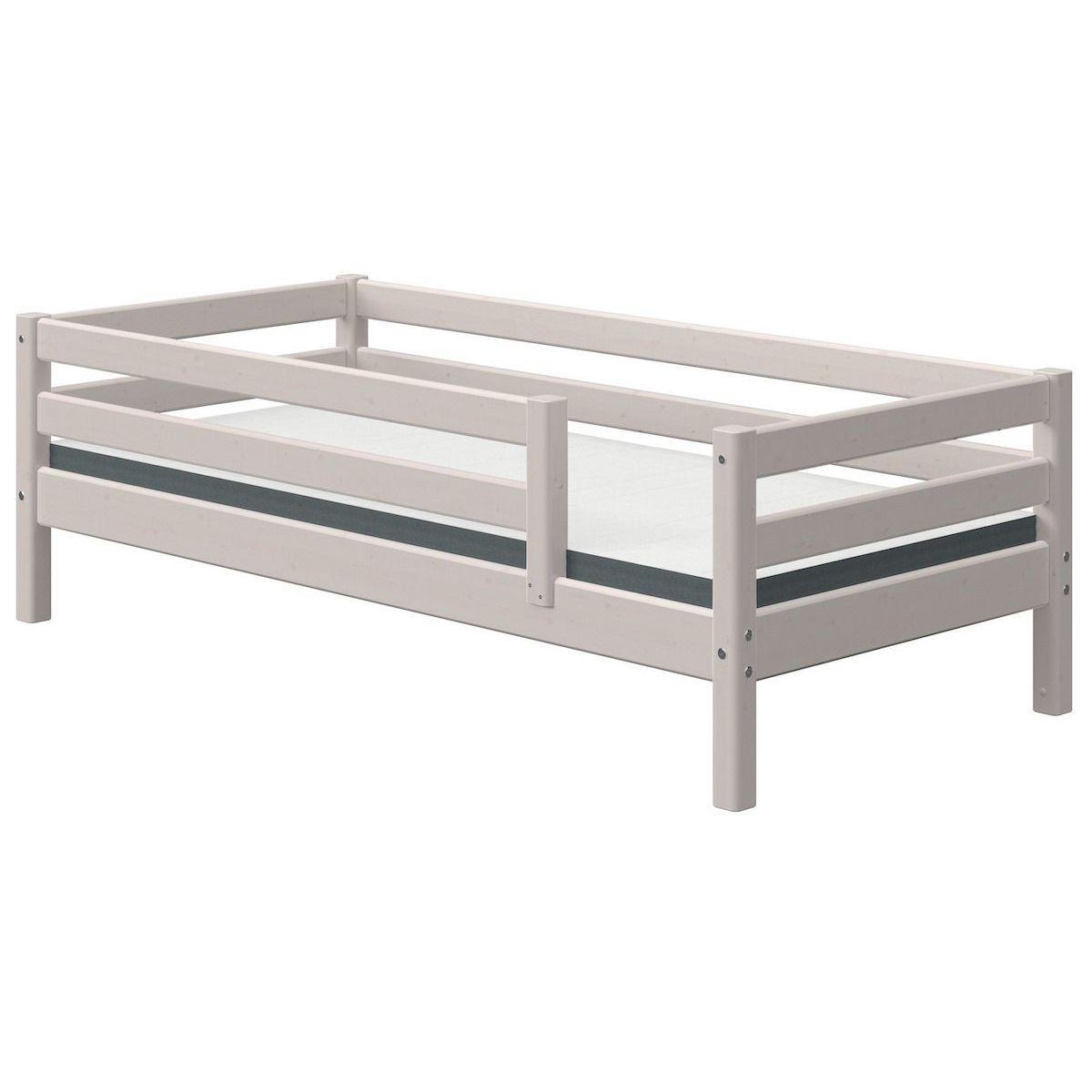 Lit banquette 90x190cm barrière de sécurité CLASSIC Flexa grey washed