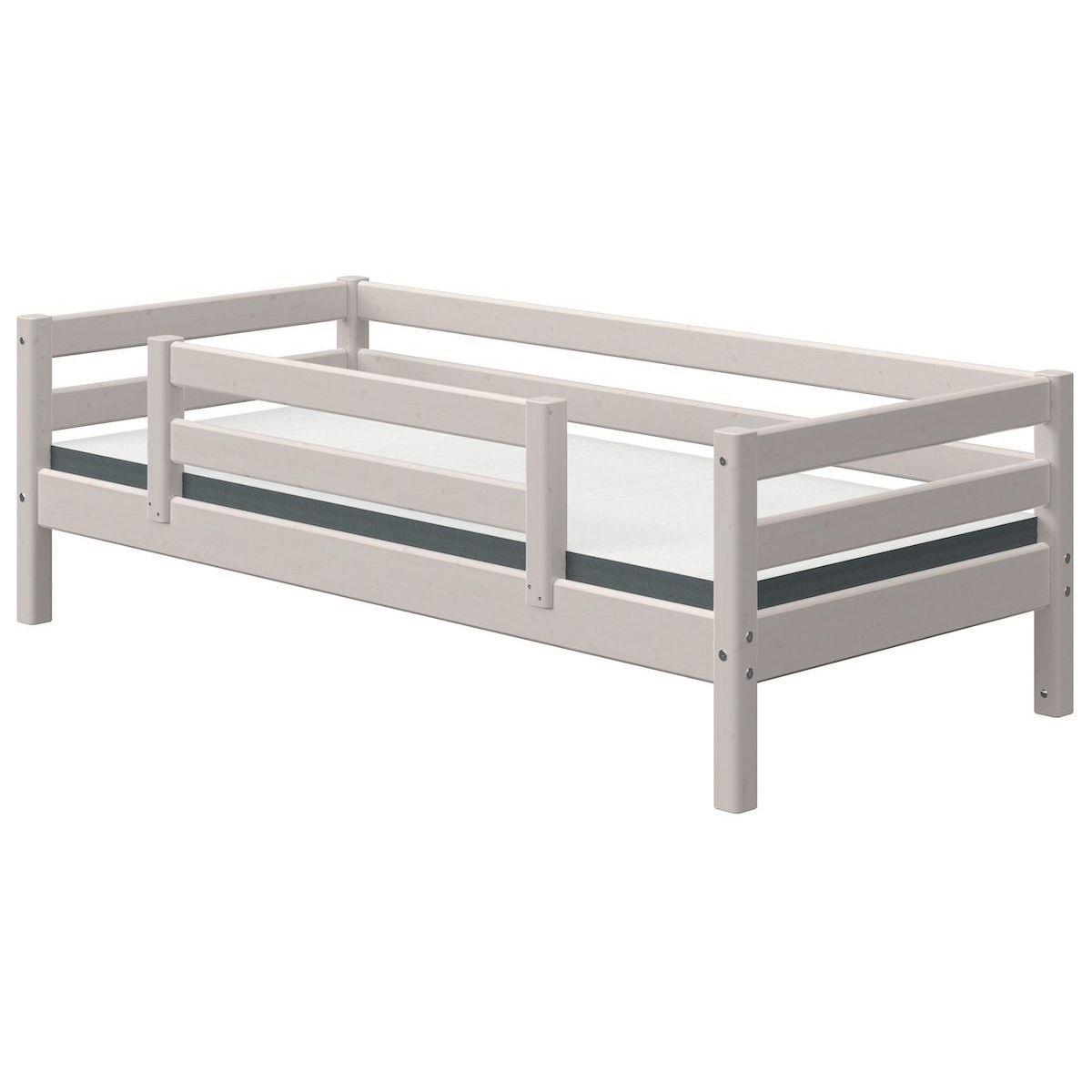 Lit banquette 90x200cm barrière de sécurité centrale CLASSIC Flexa grey washed