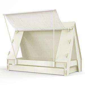 Lit bas-tiroir 90x200cm TENTE Mathy by Bols greige