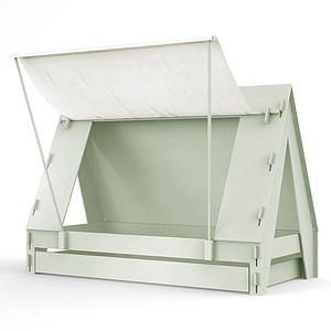 Lit bas-tiroir 90x200cm TENTE Mathy by Bols gris mousse