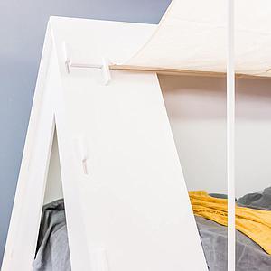 Lit bas-tiroir 90x200cm TENTE Mathy by Bols gris perle