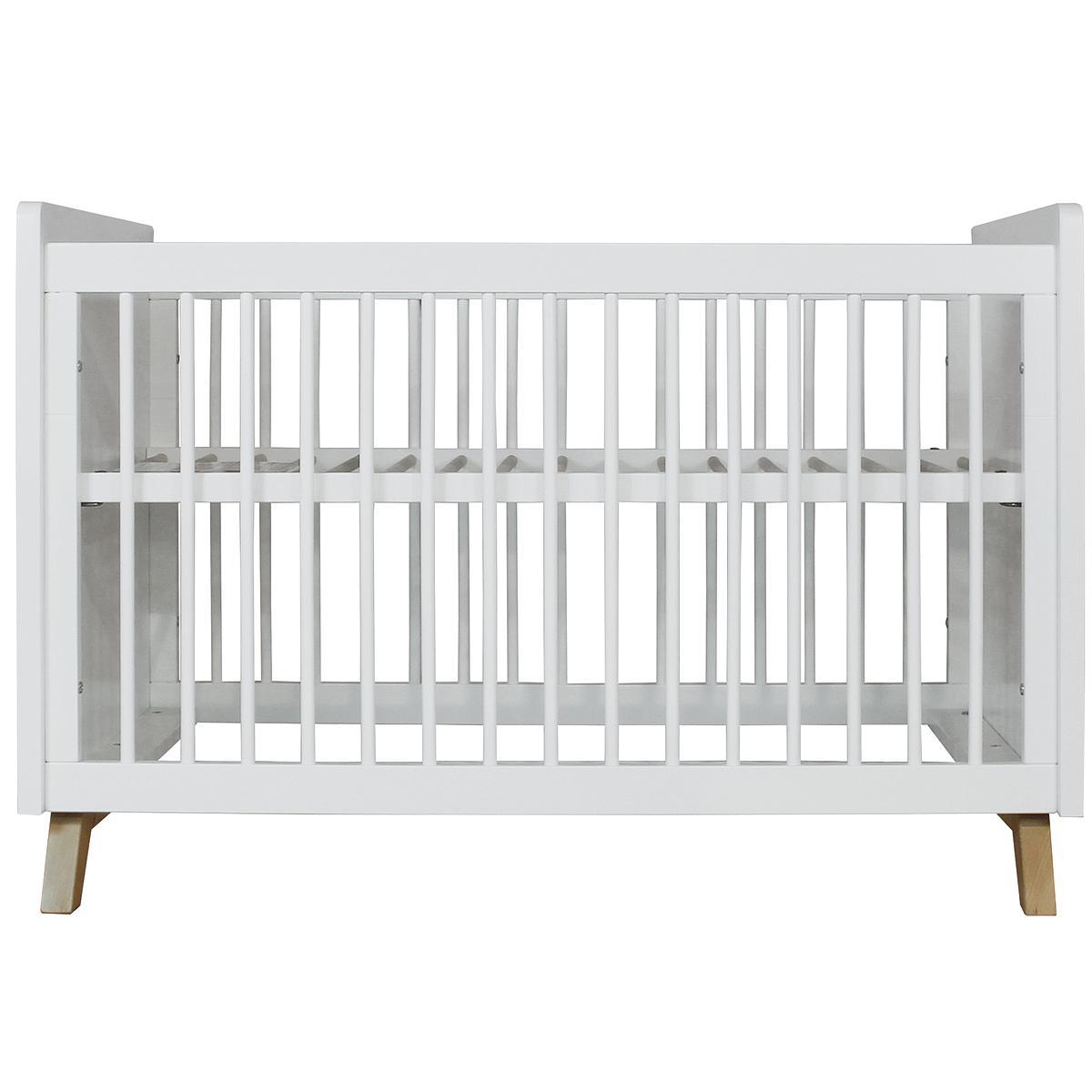 Lit bébé 60x120cm LYNN BOPITA blanc/naturel