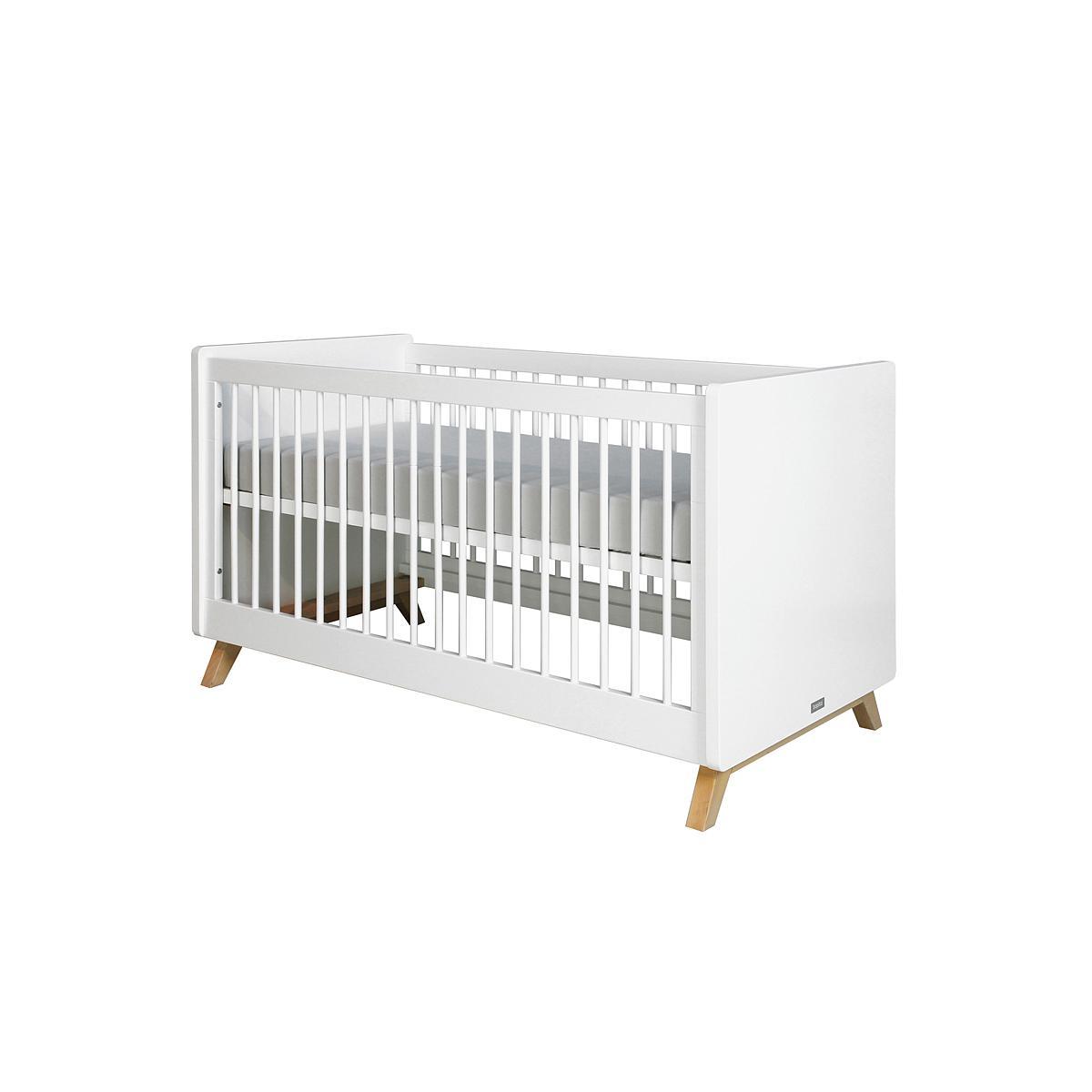Lit bébé 70x140 cm LYNN BOPITA blanc - naturel
