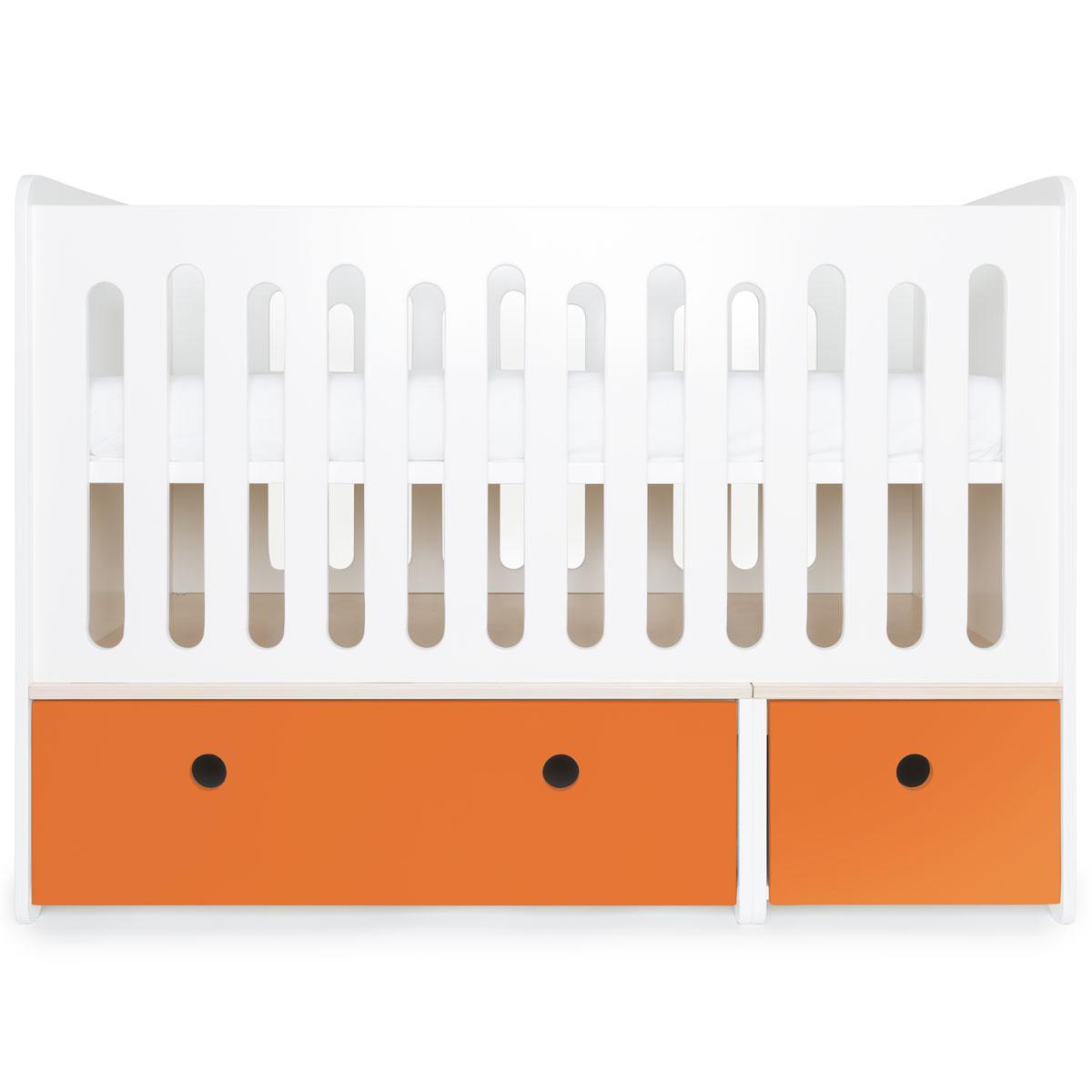Lit bébé évolutif 70x140cm COLORFLEX pure orange