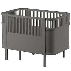 Lit bébé évolutif Sebra gris classique
