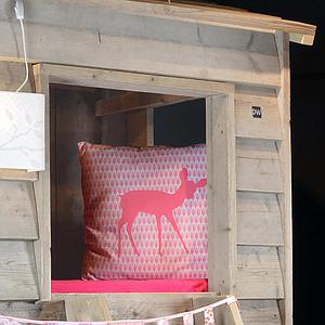 Lit Cabane 90x200cm HOUSE Dutchwood naturel