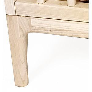 Lit-canapé junior KERA en frêne pieds Curve