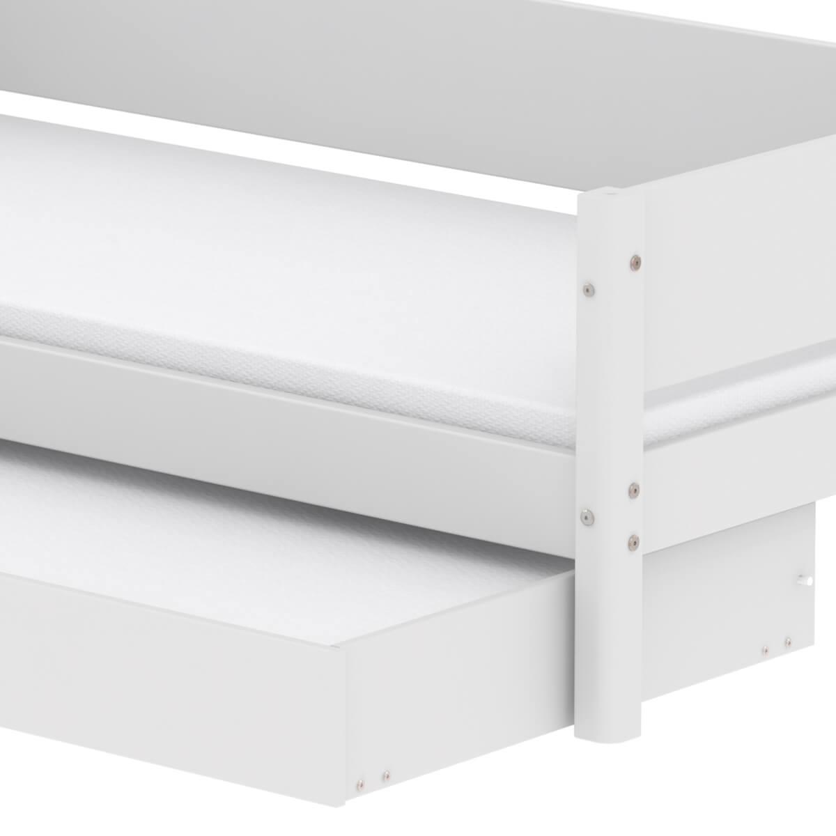 Lit enfant simple 90x200cm lit gigogne WHITE Flexa blanc