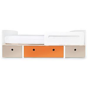 Lit évolutif 90x200cm COLORFLEX Abitare Kids warm grey-pure orange-warm grey