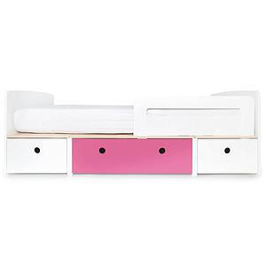 Lit évolutif 90x200cm COLORFLEX Abitare Kids white-pink-white